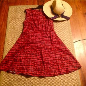 French Connection fit n Flare derby day dress